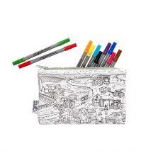 Eat Sleep Doodle Working Wheels Pencil Case