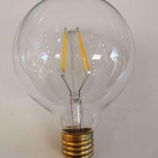 Bulb LED E27 G95mm clear 4W, 480lm, 3000k (for use with GCL01) NEW