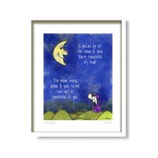 Fab Cow Moon & Me Framed