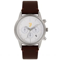 Farah The Chrono Gents Brown Watch