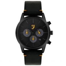 Farah The Chrono Gents Cool Grey & Yellow Watch