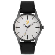 Farah The Classic Black Satin Gents Watch