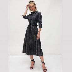 Fee G Checked Shirt Dress