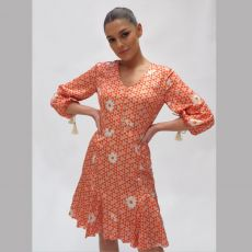 Fee G Floral Geo Print Dress