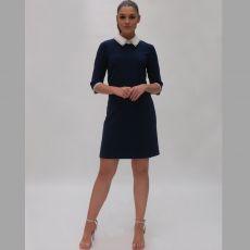Fee G Navy Collar Dress
