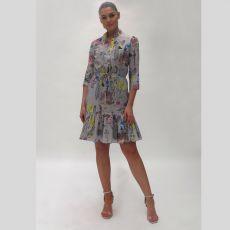 Fee G Planet Print Dress