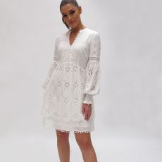 Fee G White Embroidery Dress
