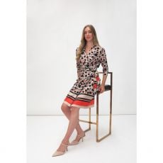 Fee G Wraparound Print Dress