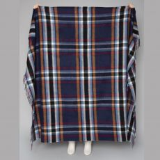 Foxford Dark Blue Multicoloured Throw