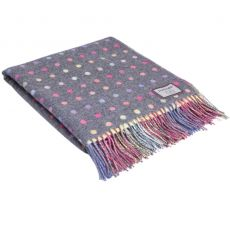 Foxford Grey Oxford Multi Spot Throw