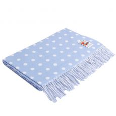 Foxford Blue Spot Baby Blanket