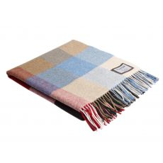 Foxford Heritage Block Check Lambswool Throw