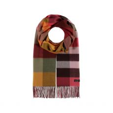 Fraas Berry Check Wrap Scarf