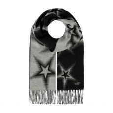 Fraas Black And White Stars Scarf