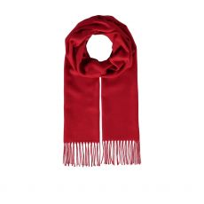 Fraas Cash Mink Small Red Scarf