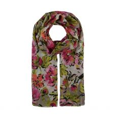 Fraas Floral Print Taupe Scarf