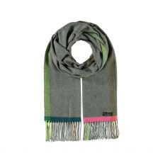 Fraas Grey Fringed Cashmink Scarf