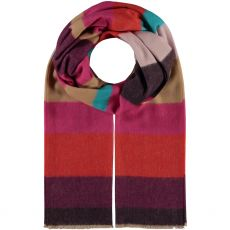 Fraas Large Stripe Scarf Berry