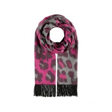 Fraas Leopard Print Two Tone Scarf