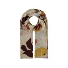 Fraas Palm Leaves Print Cream Scarf