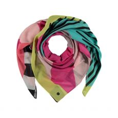 Fraas Pink Cotton Mix Scarf