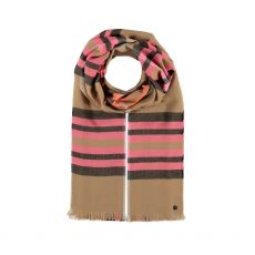 Fraas Plaid Check Pink Scarf