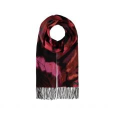 Fraas Purple Splash Print Scarf