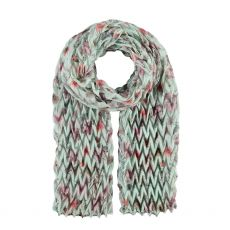 Fraas Quilted Mint Floral Scarf