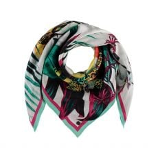 Fraas Silk Botanical Square Scarf