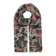 Fraas White Floral Print Scarf