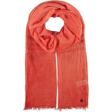 Fraas Solid Coral Scarf