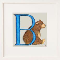 Belinda Northcote Letter B Square Frame