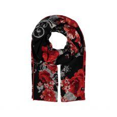 Frass Red Print Silk Scarf