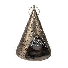 Fretwork Gold Lantern