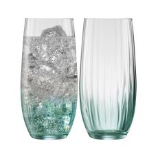 Galway Crystal Erne Aqua Set of 2 Hiball Glasses