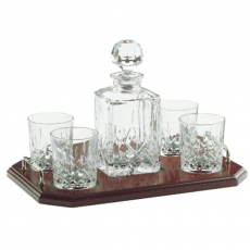 Galway Crystal Longford Decanter & Tray