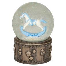Genesis Rocking Horse Boy Snow Globe