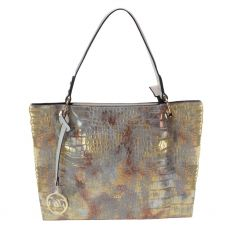 Gionni Akan Croc Textured Tote Bag