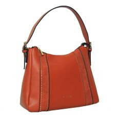 Gionni Bordeaux Studded Suede Panel Hobo Bag