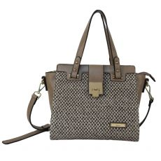 Gionni Carcassone Weaved Front Panel Double Handle Tote Camel