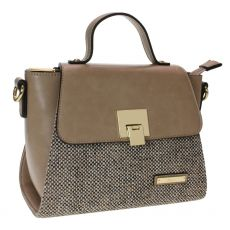 Gionni Carcassone Weaved Front Panel Top Handle Crossbody Bag Camel