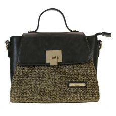 Gionni Carcassone Weaved Front Panel Top Handle Crossbody Bag Olive