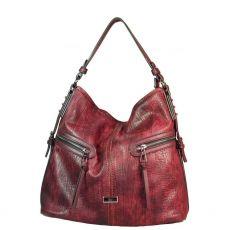 Gionni Cerise Double Front Zips Large Hobo Bag