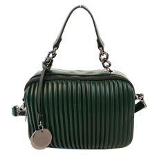 Gionni Dual Comp Ribbed Box Bag Green