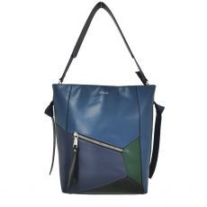 Gionni Elm Large Navy  Bucket Design Patch Bag