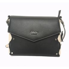 Gionni Flapover Crossbody With Interlaced Work Feature Black