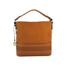 Gionni Lena Laser Cut Tan Hobo Bag