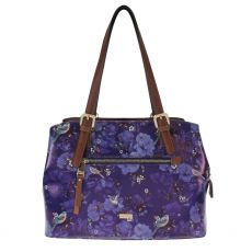 Gionni Liberty Chaumont Printed Canvas Front Zip Double Handle Bag