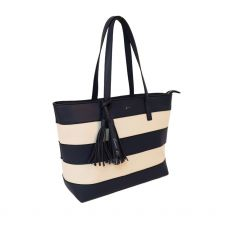 Gionni Marjoram Strap Shop Bag Navy top