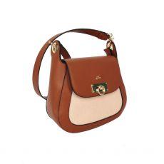 Gionni Marjoram Turnlock Saddle Bag Tan front